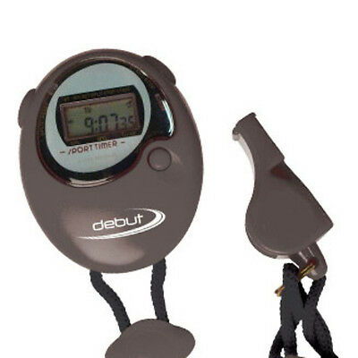 Debut Sports Coach's Stopwatch & Whistle - Multi-Sports Whistle & Timer