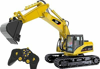 RC Excavator Tractor Digger Dumper Radio Controlled Professional Truck Kid Gift