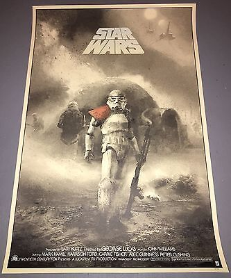Rare Star Wars silkscreen poster By Karl Fitzgerald movie print 73/75