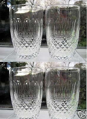 Waterford Crystal 4 Colleen 10oz Barrel Tumblers Signed 4 Whisky Glasses