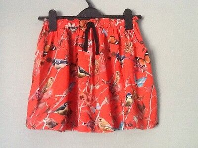 Girls Next skirt with pretty bird and butterfly print. Age 9