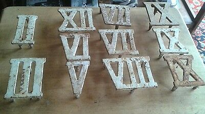 Antique Roman Numerals (11)  Probably From Part Of Edwardian Clock Golf Set.fair