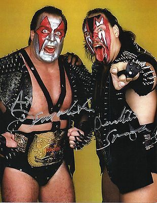 WWE SIGNED PHOTO DEMOLITION AX & SMASH RARE WRESTLING WITH PROOF wwf