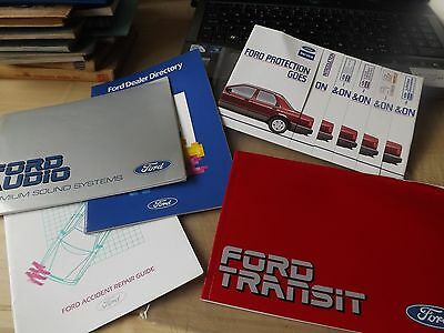 1985 FORD TRANSIT owner manuals in plastic wallet