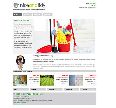 Cleaning/Homecare Business Website, Logo & Marketing material for sale