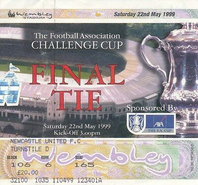 TICKET: FA CUP FINAL 1999: Man Utd v Newcastle - EXCELLENT