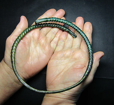 Ancient Viking Neck Torc Snake .