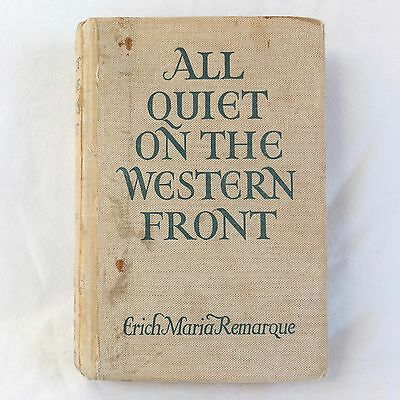 1929 All Quiet On The Western Front Erich Maria Remarque Putnam Ww1 Trench War