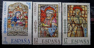 Spanish Stamps - 1985 Stained Glass Windows In MNH Condition