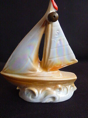 Mother of Pearl Ceramic Sailing Yacht