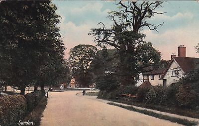 STAFFORDSHIRE: SANDON VILLAGE by Shaw of Burslem posted 1914