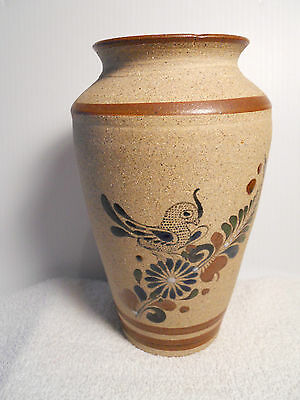 """Beautiful 8 3/8"""" Hand Designed Pottery Vase from Mexico"""