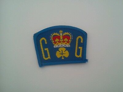Girl guide queens guide cloth patch / badge