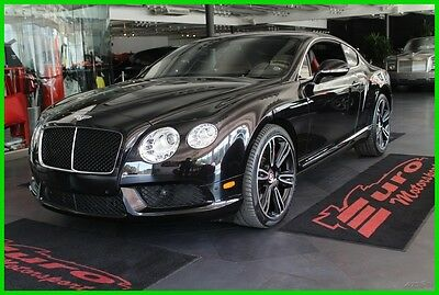 2013 Bentley Continental GT V8 Astonishing look. Black over Black/Red. Low Mileage. One of a kind!!