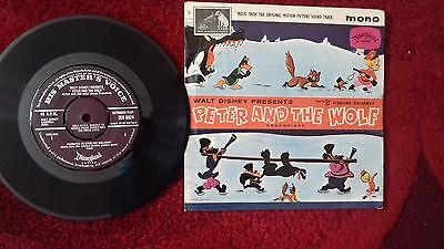 "Peter and the Wolf 7"" vinyl record Walt Disney motion picture vgc"