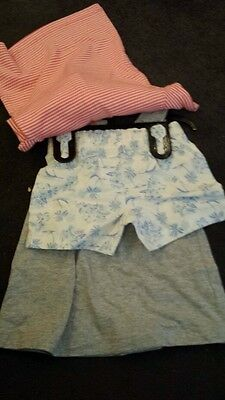 Carter's NEW Girls 3 Piece Set Vest Top Shorts And Striped Short Sleeve  T-Shirt