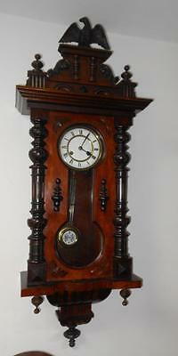 walnut cased KEYHOLE vienna wall clock c1900s