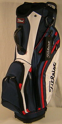 Closeout Titleist Golf Ultimate Lightweight Cart Bag Navy/White/Red TB6CT5-416