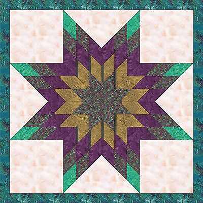 JEWELED DELIGHT STAR - Not Quilted, Machine Pieced, made in the USA