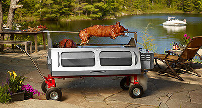 Pigout Roasters Stainless Steel Mobile Rotisserie (160lbs of meat)