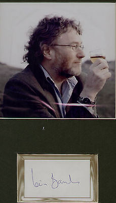 Iain Banks hand signed bookplate + pic in display