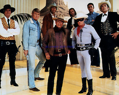 John Wayne And Western Tv Icons Abc's Silver Anniverary 1978 Special 8X10 Photo