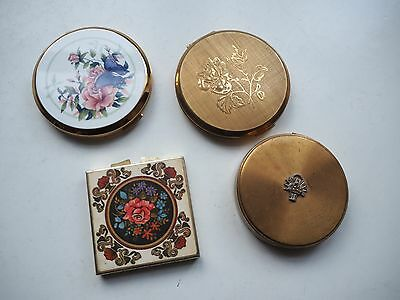 Four Vintage Stratton/Margaret Rose Compacts