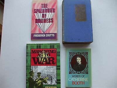 4 Books  On The Salvation Army, From An Old Collection