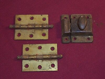 Antique Vintage Cupboard Cabinet Latch and Hinges