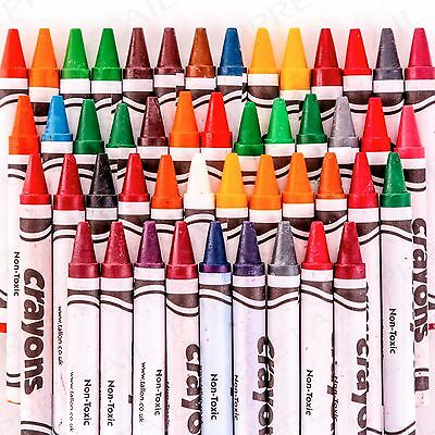 LARGE PACK 480 WAX CRAYONS & SHARPENER Kids Classroom/Party Fun Colouring Pack