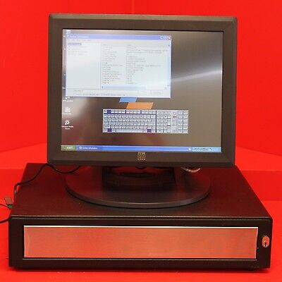 """Tyco Electronics Elo 15"""" Touch Screen Monitor With Cash Drawer"""
