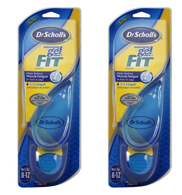 Dr Scholl'S Massaging Gel Fit 3/4 Length, Inserts For Men One Pair