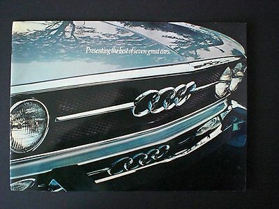 1973 Audi 20 Page Brochure - Presenting The Best Of Seven Great Cars