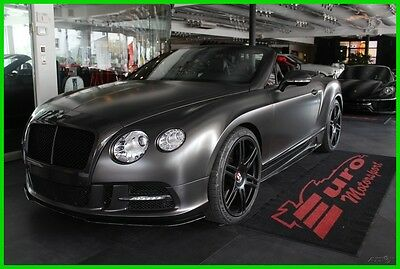 2013 Bentley Continental GT V8 MANSORY upgraded!! Elegant Black on Black. Low miles. Priced 4 quick sale. Call