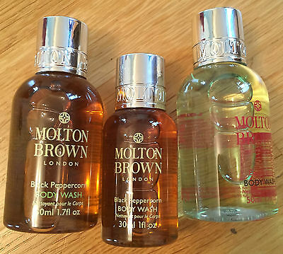 MOLTON BROWN Body Wash gift set with feather. Brand new