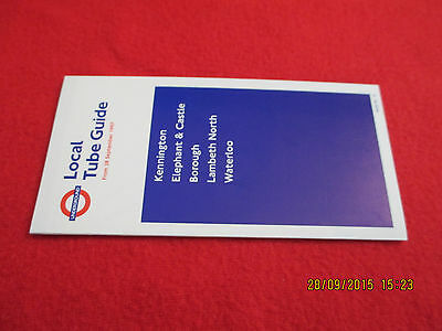 Original&complete Underground Tube Guide From 28.9.1997 Kennington To Waterloo