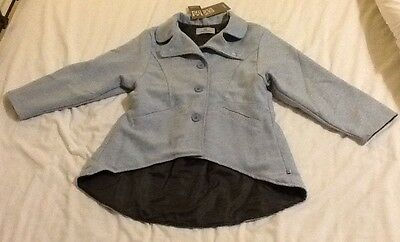 BNWT Girl's Gorgeous Coat. Designer Brand 'Their Nibs'. Age 9-10 Years