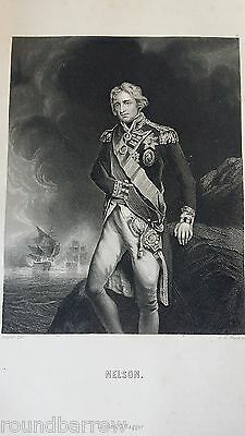 Antique Engraving Vice Admiral Horatio Lord Nelson - Hagger  Payne  Hoppner