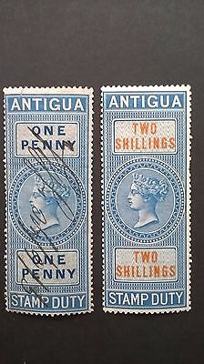 Antigua Victorian revenue stamps