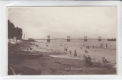 Rare Vintage Postcard Sands And Pier, Seaview, Isle Of Wight
