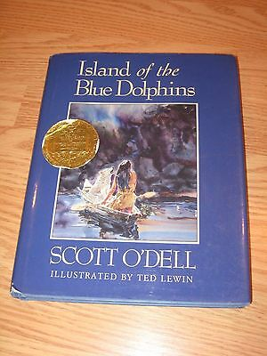 ISLAND OF THE BLUE DOLPHIN by Scott O'DELL Large Hardcover BOOK