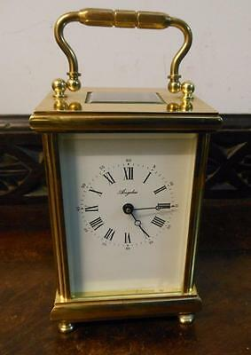 large angelus brass cased carriage clock