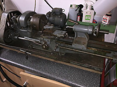 Myford ML 2 small Lathe 3 phase with inverter  ideal starter Lathe