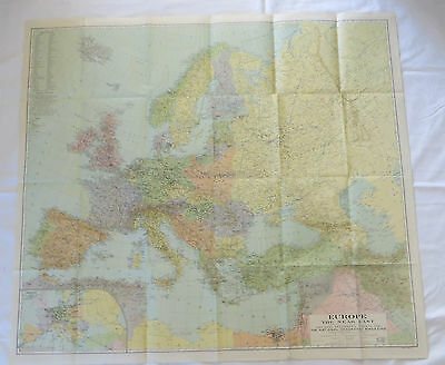 National Geographic Map Europe December 1929 (F13)