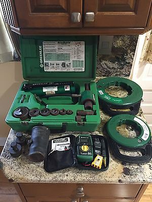 Greenlee 7306SB Slug Buster Hydraulic Knockout Punch Driver Set Cable Pull Tools