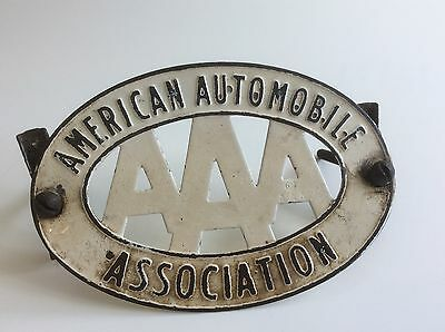 AMERICAN AUTOMOBILE ASSOCIATION CAR BADGE - Early Vintage!