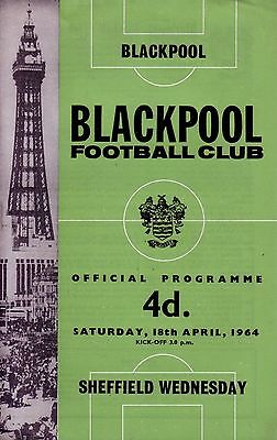 BLACKPOOL v SHEFFIELD WEDNESDAY 1963/64 DIVISION 1 (8 PAGES)