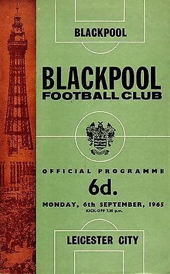 BLACKPOOL v LEICESTER 1965/66 DIVISION 1