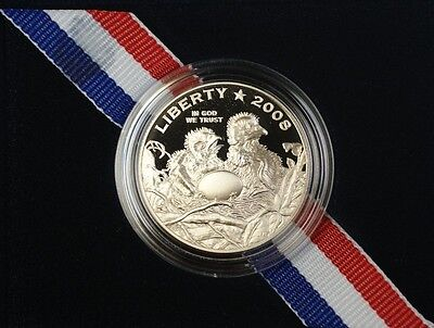2008 S Bald Eagle Commemorative Proof 50 Cents Coin Original Mint Packaging