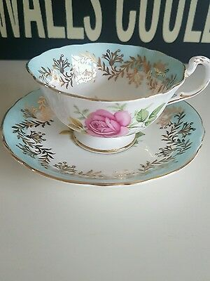 Pretty flower queen 's paragon tea cup and saucer